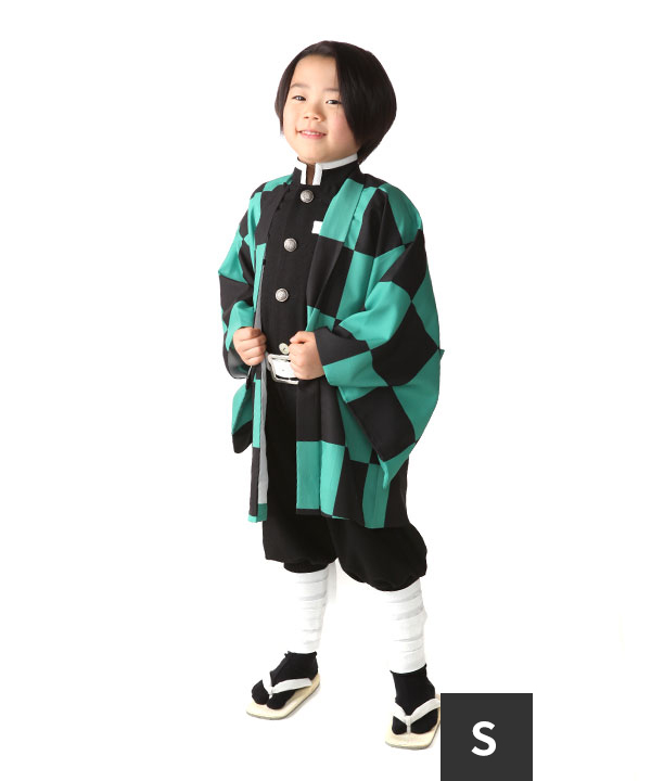 アニバーサリー(3歳-5歳)|市松模様 キッズコスチューム 110cm|A0001|Sサイズ