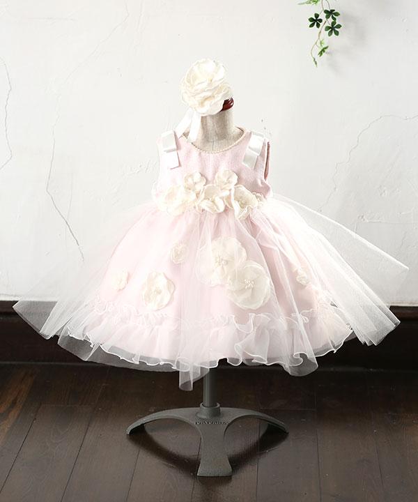 アニバーサリー(1歳)|【リューサ・ローズ ベビー】ベビー ミニドレス ピンク 80cm|A0005
