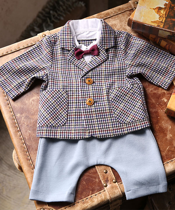 アニバーサリー(1歳)|【ラフィネココ】ベビースーツ マルチカラー 80cm|A0010