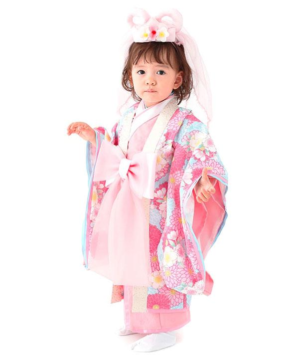 アニバーサリー(1歳-2歳)|【JAPAN STYLE】ベビー着物 乙姫|A0012