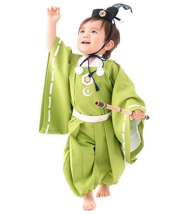 アニバーサリー(1歳-2歳)|【JAPAN STYLE】ベビー着物 牛若丸|A0014