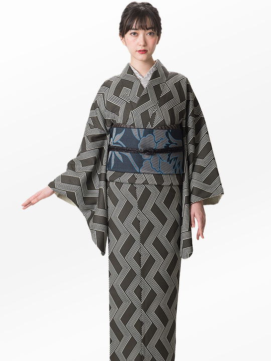 「JOTARO SAITO Composition」スクエア合せストライプ(グリーン)/ヘコオビ