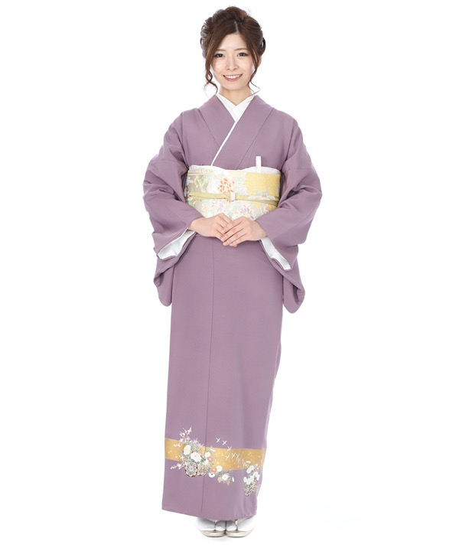 色留袖|紫に花車|I0076|L