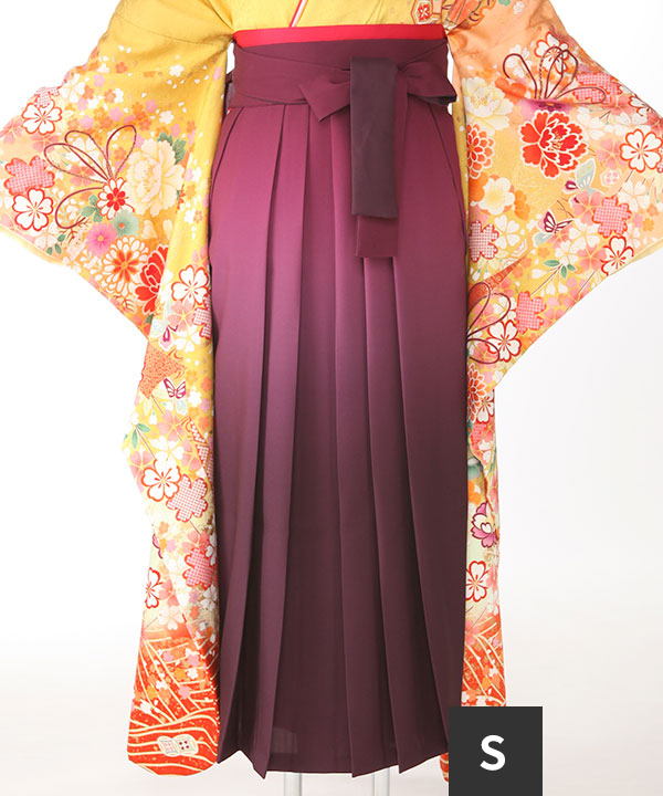 袴単品レンタル|ぼかし臙脂S(紐下87cm)