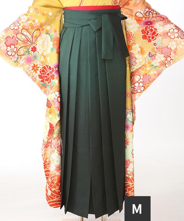 袴単品レンタル 緑M(紐下91cm)
