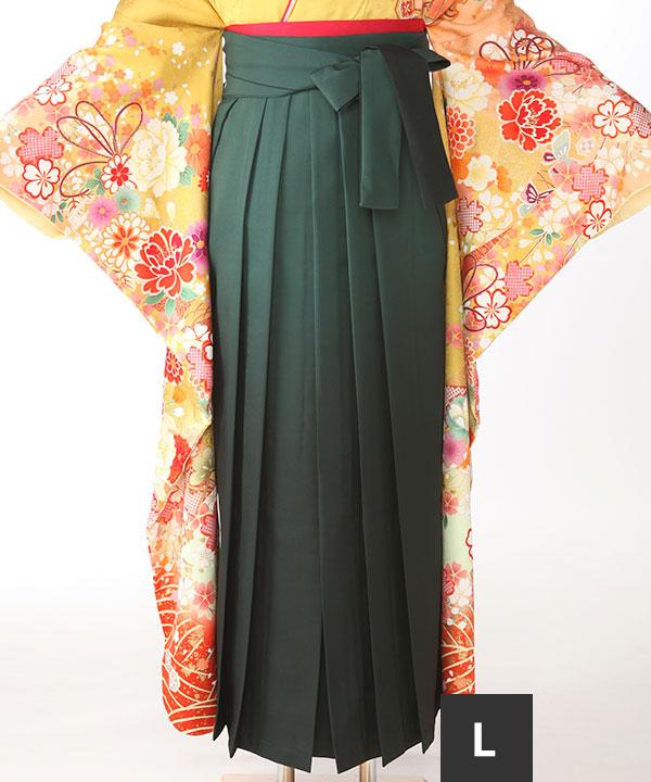 袴単品レンタル 緑L(紐下95cm)