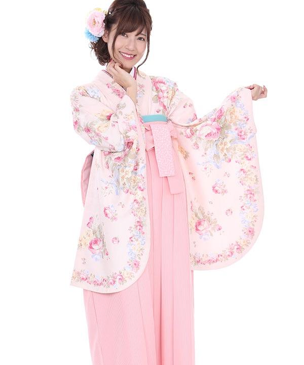 卒業式袴|LIZ LISA ピンク薔薇 ストライプ|S0054 F