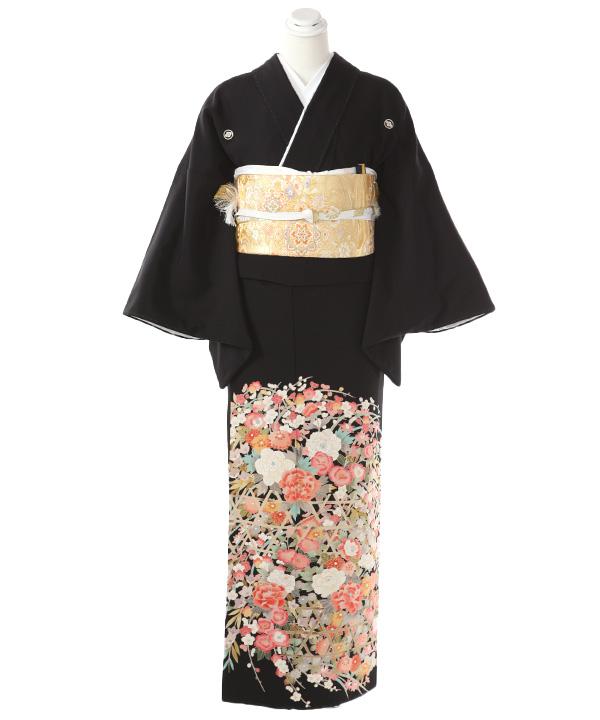 黒留袖レンタル | 花籠目