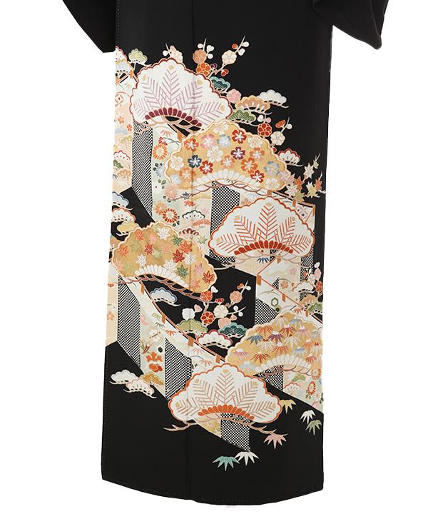 黒留袖   島善織物 幔幕に松竹梅   T0049   M