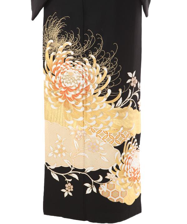 黒留袖レンタル | 関芳 乱菊と雲取り