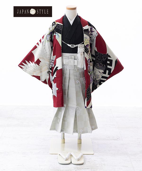 七五三(五歳男の子)着物レンタル|【JAPAN STYLE×松坂大輔】熨斗目に鷹柄羽織 水色着物×白袴